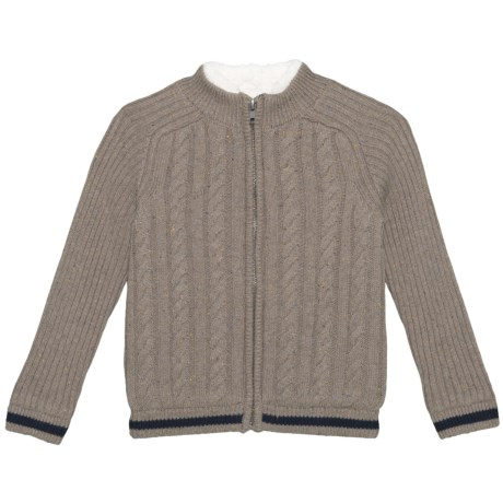 Image of Mock Neck Cardigan Sweater - Zip Front (For Little Boys)