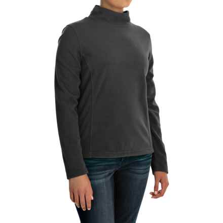 Mock Neck Fleece Shirt - Long Sleeve (For Women) in Black - 2nds