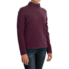 Mock Neck Fleece Shirt - Long Sleeve (For Women) in Maroon - 2nds