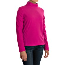 Mock Neck Fleece Shirt - Long Sleeve (For Women) in Pink - 2nds