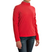 Mock Neck Fleece Shirt - Long Sleeve (For Women) in Red - 2nds