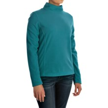 Mock Neck Fleece Shirt - Long Sleeve (For Women) in Turquoise - 2nds