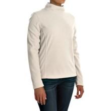 Mock Neck Fleece Shirt - Long Sleeve (For Women) in White - 2nds