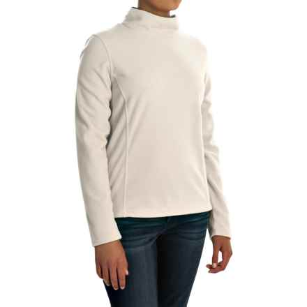 Mock Neck Fleece Shirt - Long Sleeve (For Women) in White - 2nds