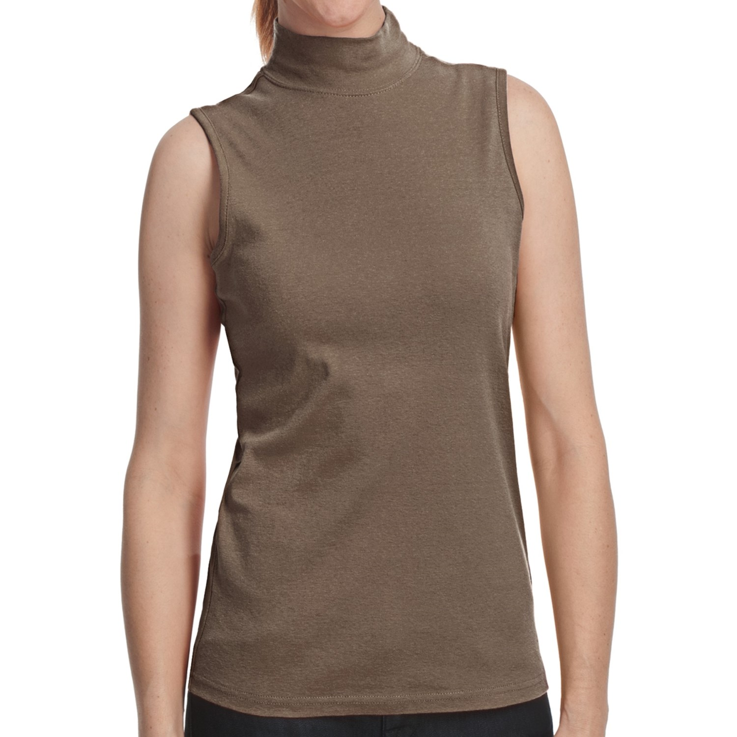 Mock neck shirt cotton sleeveless for women save 69 for Sleeveless mock turtleneck shirts