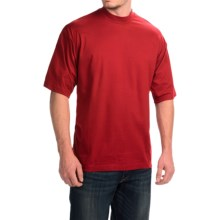 Mock Turtleneck - Supima® Cotton, Short Sleeve (For Men and Big Men) in Red - 2nds