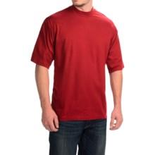 Mock Turtleneck - Supima® Cotton, Short Sleeve (For Men and Big Men) in Red - 2nds