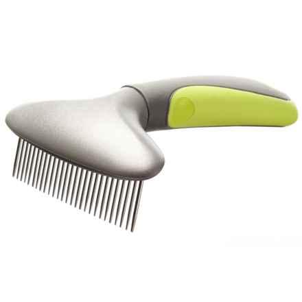 mod Single Rake Pet Comb in Grey/Green - Closeouts