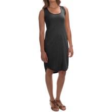 Modal Blend Tank Dress - Sleeveless (For Women) in Black - 2nds