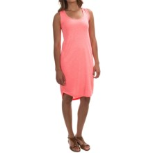Modal Blend Tank Dress - Sleeveless (For Women) in Neon Coral - 2nds