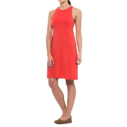 Modal Dress - Sleeveless (For Women) in Coral - 2nds