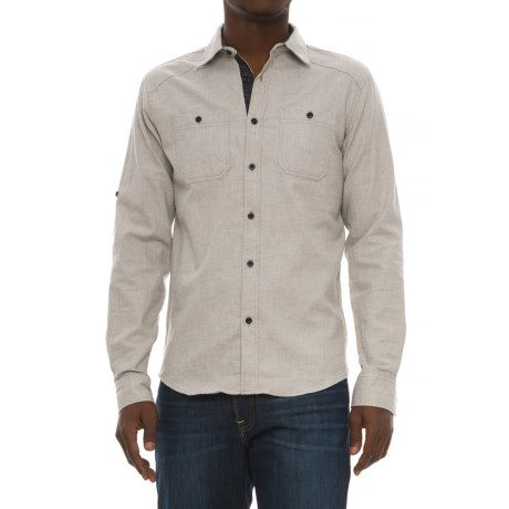 Modern Culture Zach Flannel Shirt - Long Sleeve (For Men) in Grey