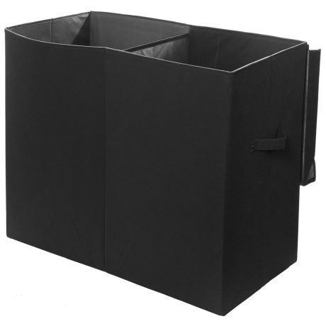 modernlittles Smarty Pants Solid Folding Double Laundry Basket in Black