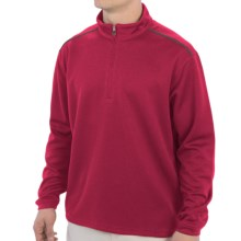 Moisture-Wicking Golf Shirt - Zip Neck, Long Sleeve (For Men) in Red - 2nds
