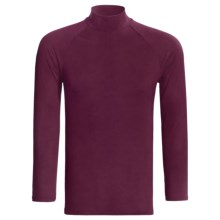 Moisture-Wicking Mock Turtleneck - Long Sleeve (For Men) in Burgundy - Closeouts