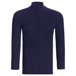Moisture-Wicking Mock Turtleneck - Long Sleeve (For Men) in Navy