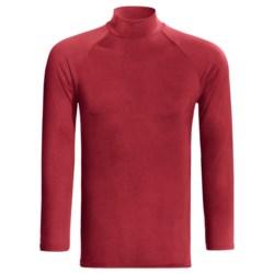 Moisture-Wicking Mock Turtleneck - Long Sleeve (For Men) in Red