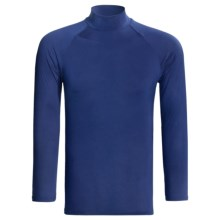 Moisture-Wicking Mock Turtleneck - Long Sleeve (For Men) in Royal - Closeouts