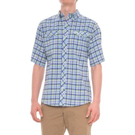 Mojo Sportswear Back Country Big Plaid Technical Shirt - UPF 30, Short Sleeve (For Men) in Siesta Key