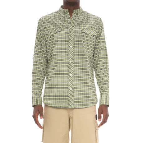 Mojo Sportswear Back Country Technical Shirt - UPF 30, Long Sleeve (For Men) in Green Plaid