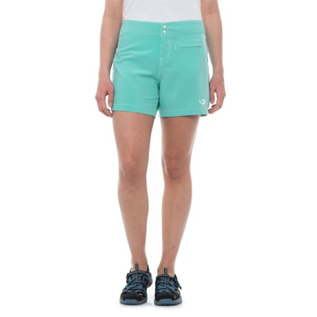 Mojo Sportswear Block Shorts - UPF 30+ (For Women) in Aqua