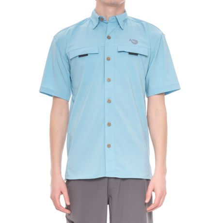 Mojo Sportswear Mr. Big Vented Shirt - UPF 30, Short Sleeve (For Men) in Sky Blue