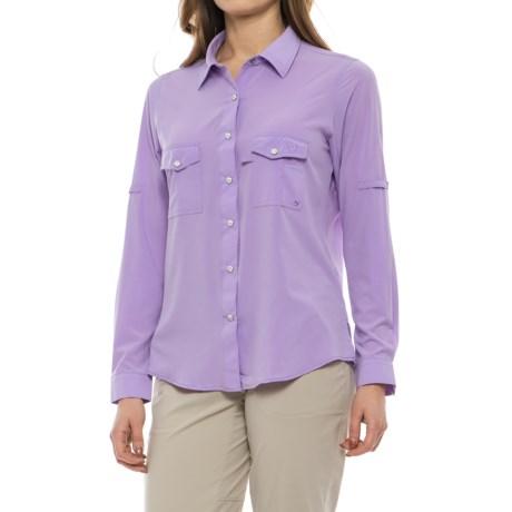 Mojo Sportswear Ms. Cool Ultimate Technical Fishing Shirt - UPF 30, Long Sleeve (For Women) in Lavender