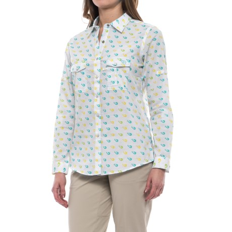 Mojo Sportswear Ms. Mojo Fishing Shirt - UPF 30+, Snap Front, Long Sleeve (For Women) in Hook