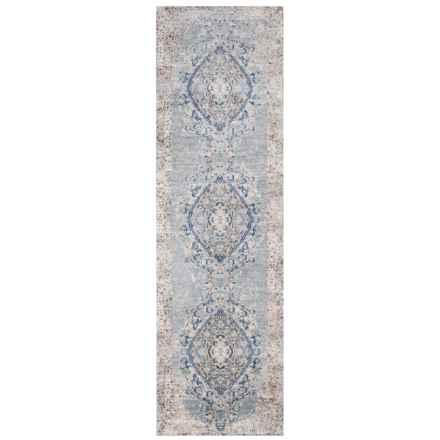 "Momeni Amelia Medallion Light Blue Vintage Floor Runner - 2'3""x7'6"" in Light Blue - Closeouts"