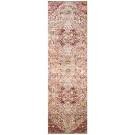 "Momeni Amelia Medallion Rose Vintage Floor Runner - 2'3""x7'6"" in Rose - Closeouts"