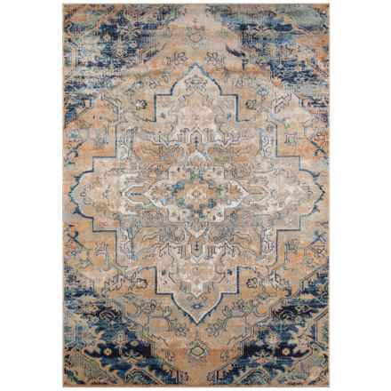 "Momeni Amelia Vintage Look Medallion Area Rug - 5'3x7'6"" in Navy - Closeouts"