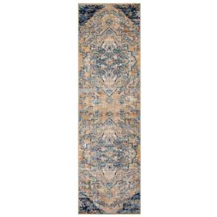 Momeni Amelia Vintage Look Medallion Floor Runner - 2x8', Navy in Navy - Closeouts
