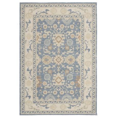 """Momeni Anatolia Bohemian Area Rug - 5'3""""x7'6"""" in Light Blue"""