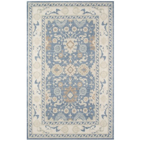 "Momeni Anatolia Bohemian Area Rug - 9'9""x12'6"", Wool-Nylon in Light Blue"