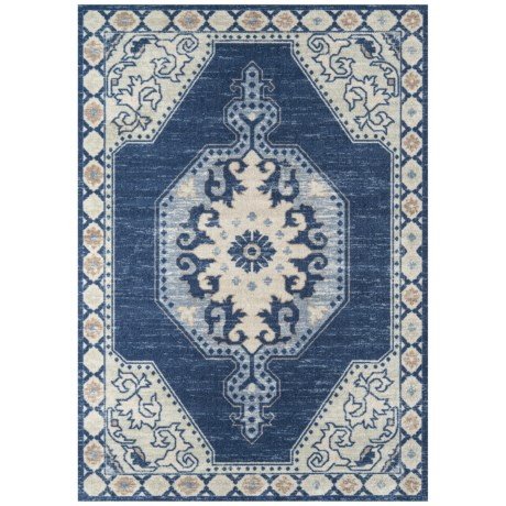 "Momeni Anatolia Wool-Nylon Area Rug - 5'3""x7'6"" in Navy"