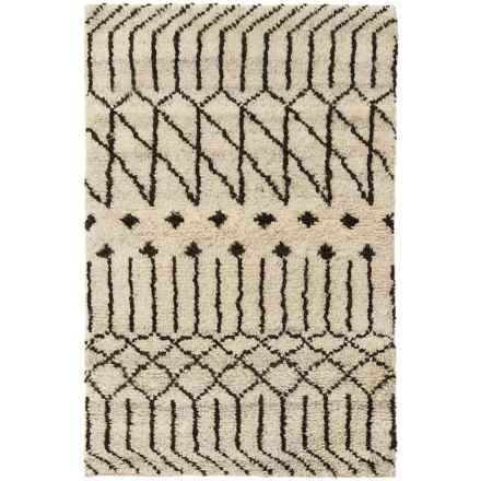 Momeni Atlas Collection Accent Rug - 2x3', Hand-Knotted Wool in Natural - Closeouts