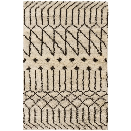 Momeni Atlas Collection Accent Rug   2x3u0027, Hand Knotted Wool In Natural