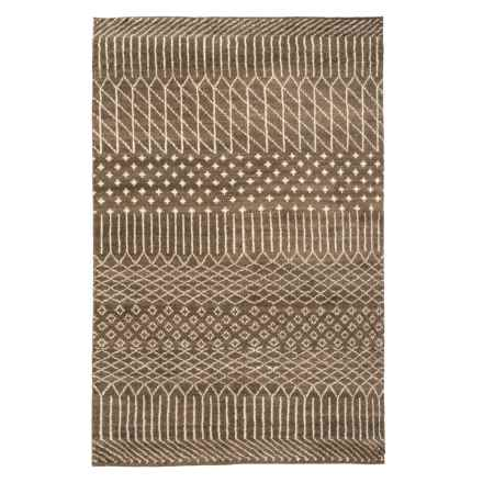 Momeni Atlas Collection Area Rug - Hand-Knotted Wool, 5x8' in Brown - Closeouts