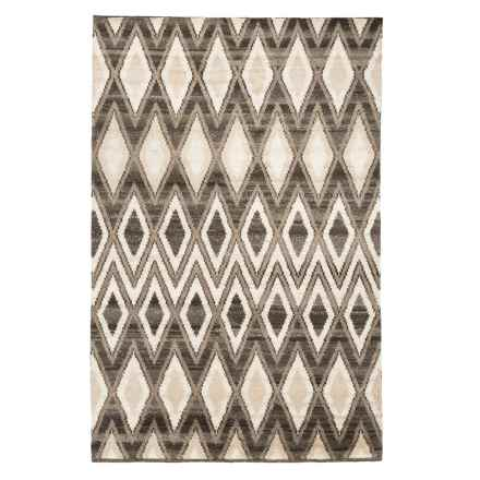 Momeni Atlas Collection Area Rug - Hand-Knotted Wool, 5x8' in Natural - Closeouts