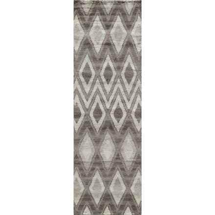 "Momeni Atlas Collection Floor Runner - 2'3""x8', Wool in Natural Diamond - Overstock"