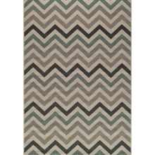 "Momeni Baja Chevron Indoor-Outdoor Area Rug - 6'7""x9'6"" in Sage - Closeouts"