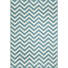 "Momeni Baja Chevron Indoor-Outdoor Area Rug - 7'10""x10'10"" in Blue - Closeouts"