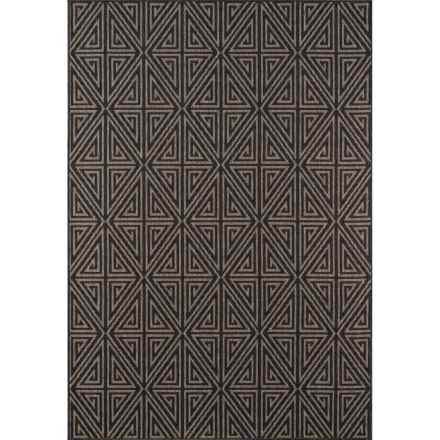 "Momeni Baja Collection Diamond Indoor-Outdoor Area Rug - 3'11""x5'7"" in Charcoal - Overstock"