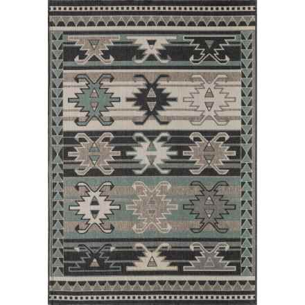 "Momeni Baja Collection Diamond Indoor-Outdoor Area Rug - 3'11""x5'7"" in Sage Stripe - Overstock"