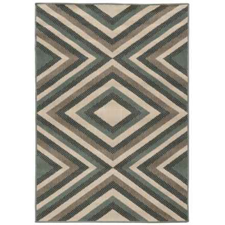 "Momeni Baja Collection Diamond Indoor-Outdoor Area Rug - 3'11""x5'7"" in Sage - Overstock"
