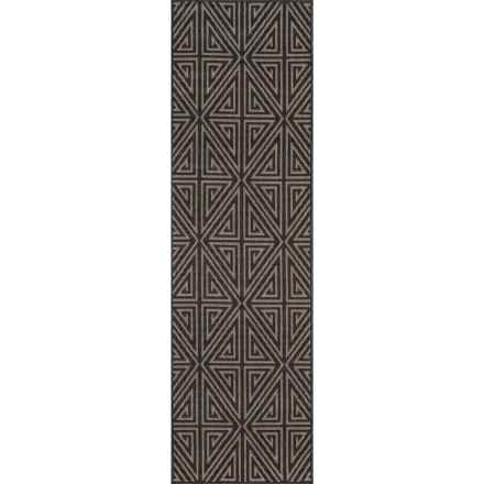 "Momeni Baja Collection Diamond Indoor-Outdoor Floor Runner - 2'3""x7'6"" in Charcoal - Overstock"