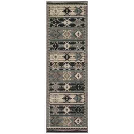 "Momeni Baja Collection Diamond Indoor-Outdoor Floor Runner - 2'3""x7'6"" in Sage Stripe - Overstock"