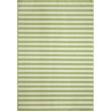 "Momeni Baja Stripe Indoor-Outdoor Area Rug - 7'10""x10'10"" in Green - Closeouts"