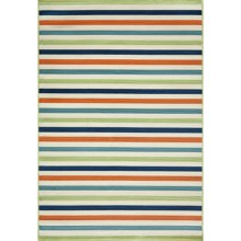 "Momeni Baja Stripe Indoor-Outdoor Area Rug - 7'10""x10'10"" in Multi - Closeouts"