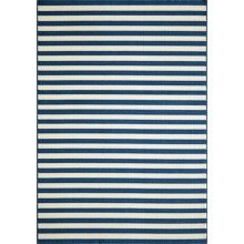 "Momeni Baja Stripe Indoor-Outdoor Area Rug - 7'10""x10'10"" in Navy - Closeouts"